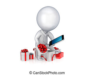 Holiday sales concept.Isolated on white background.3d...