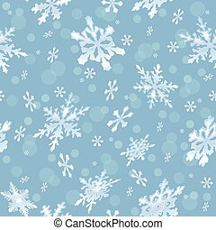 Holiday seamless background with frosty snowflakes