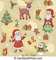 Holiday seamless pattern.