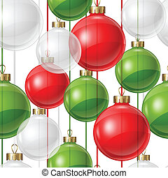 Holiday seamless pattern design with christmas balls.