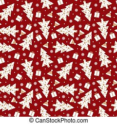 Holiday seamless pattern with maroon background