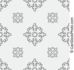 holiday seamless pattern with snowflakes