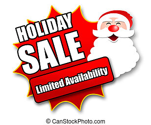 Holiday Season Promotional Sticker with Sales related ...