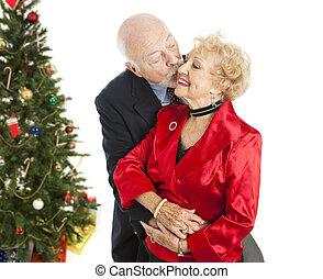 Holiday Seniors - Christmas Kiss