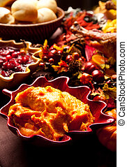 Holiday Side Dishes - Side dishes on a holiday table