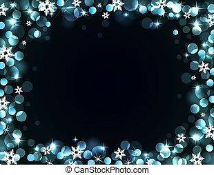 Holiday silver-blue background