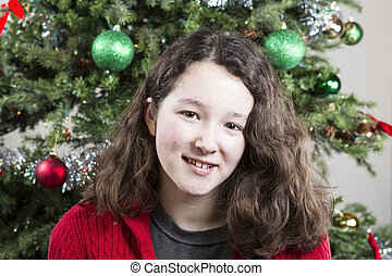 Holiday Smile of Young Girl