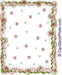 Holiday Snowflake Border - Not-upsampled. My original design...