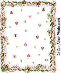 Holiday Snowflake Border