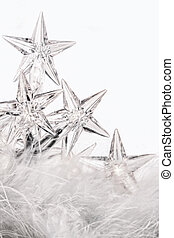 Holiday star lights with white background