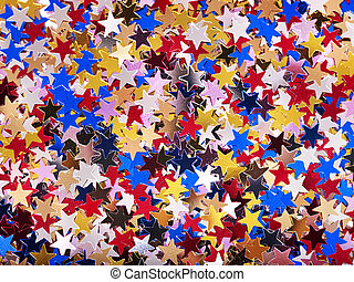 Holiday star shape background. - Holiday group star shape...