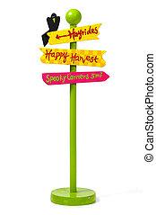 Holiday Street Sign - Fall Season Street Sign
