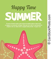Holiday summer party poster background