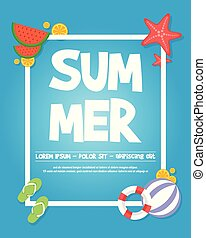 Holiday summer party poster design