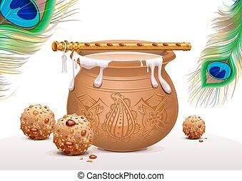 Symbols Krishna Janmashtami - Holiday Symbols Krishna...
