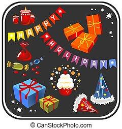 holiday symbols set