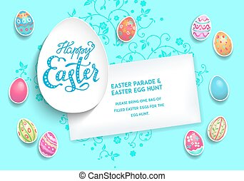 Holiday Template poster eggs - Festive Easter eggs...