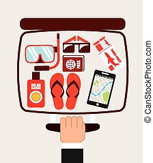 holiday travel design, vector illustration eps10 graphic