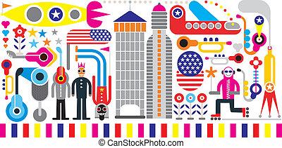 Holiday vector illustration
