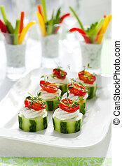 Holiday vegetable appetizers