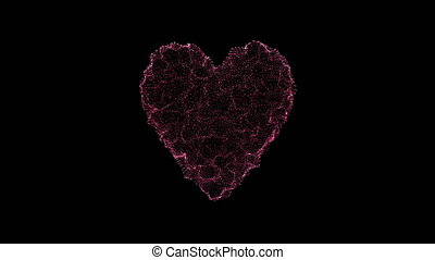 wavy surface on heart shape - holiday video, wavy surface on...