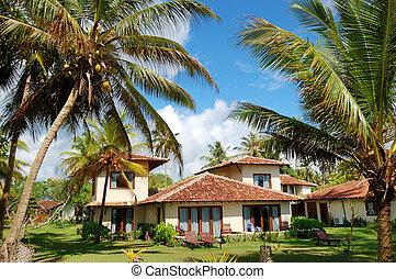 Holiday villa at the popular hotel and palms, Bentota, Sri...
