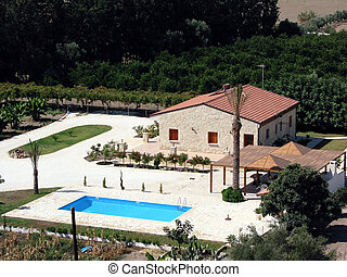 Holiday villa with a swimming pool in Cyprus