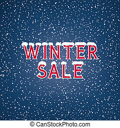 Snow on the Letters Winter Sale