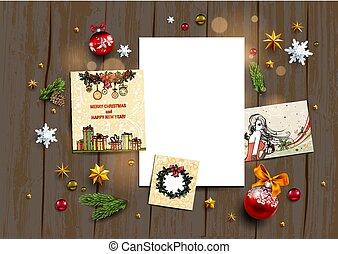Holiday winter template