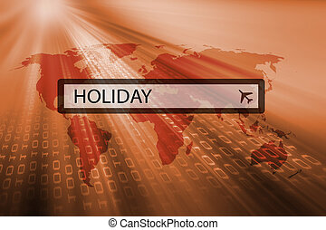 holiday written in search bar