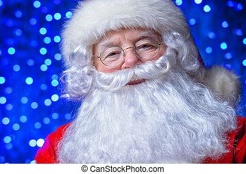 holiday x-mas lights - Christmas concept. Close-up portrait...