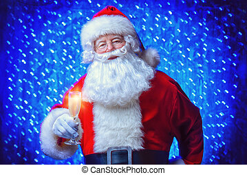 holiday x mas lights - Santa Claus wishes you a Happy New...