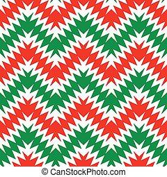 Holiday Zig Zag Pattern