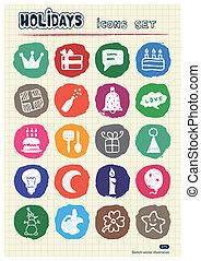 Holidays and celebration web icons