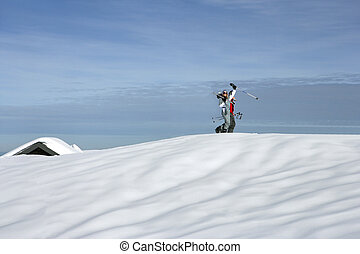 Holidays at ski resort