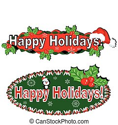 Holidays banners set, vector