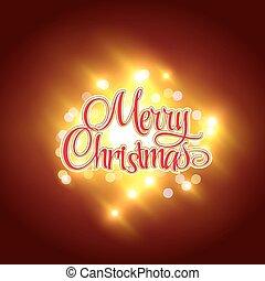 Holidays card design with inscription - Merry Christmas