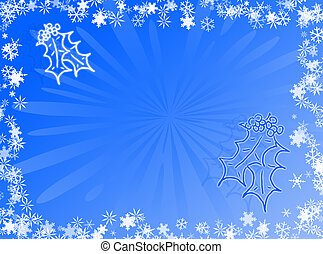 Holidays - Christmas and holidays with this blue card