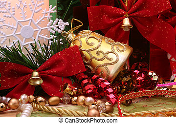Holidays - Christms Ornaments With Bows and Ribbon