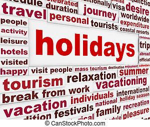 Holidays creative message