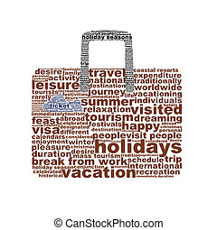 Holidays creative symbol design