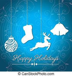 holidays design over blue  background vector illustration