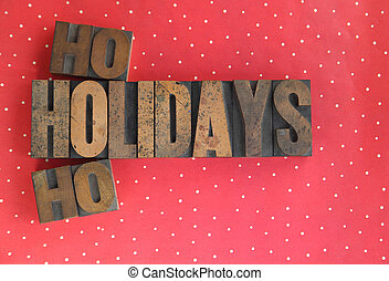 holidays ho ho words on polka dots