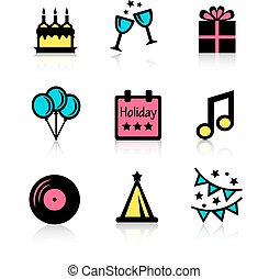 holidays icons set
