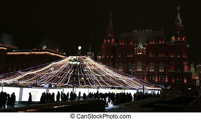 holidays illumination in Moscow - Christmas and New Year...