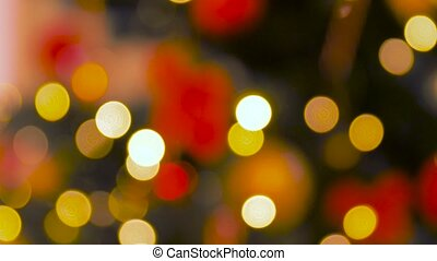 blurred christmas lights - holidays, new year and ...