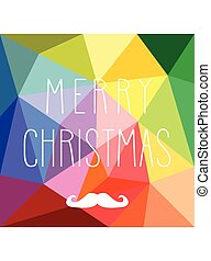 Holidays vector card with mustache