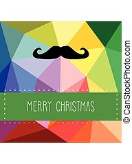 Holidays vector hipster card