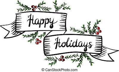 holidays', vektor, band, 'happy, illustration