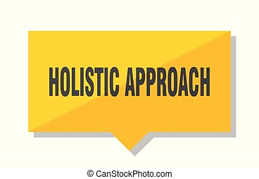 holistic approach price tag - holistic approach yellow...